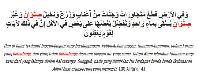 contoh shinwaanun di Al Qur'an idzhar wajib