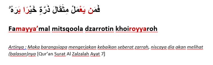 surat azzalzalah ayat 7