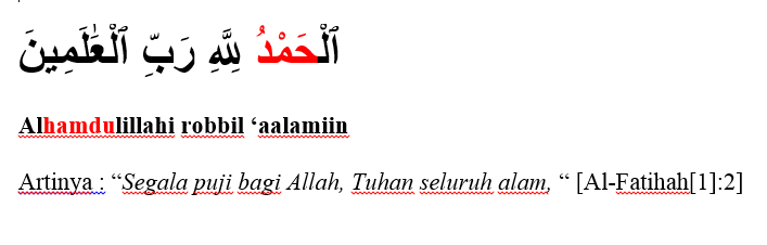 surat al fatihah ayat 2