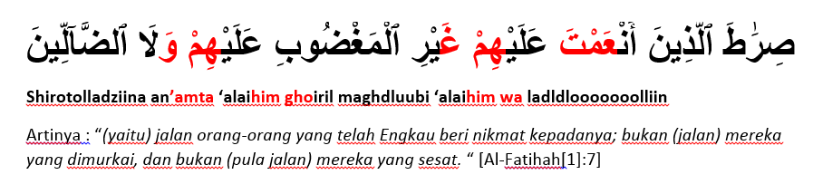 surat al fatihah ayat 7