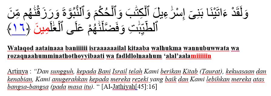 surat al jathiyat ayat 16