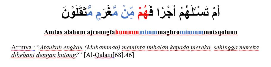 surat al qolam ayat 46