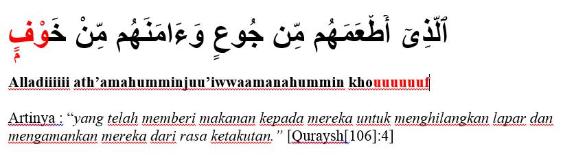 surat al quraysh ayat 4
