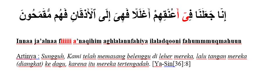 surat yasiin ayat 8